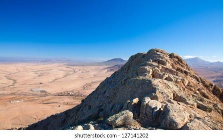 Fuerteventura, view north from Tindaya