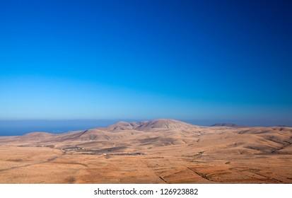 Fuerteventura, view north from Tindaya mountain