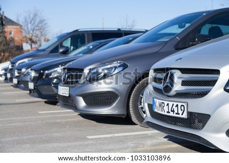 fuerth germany february 25 2018 mercedes benz stock photo edit now