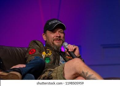 FUERTH, Germany - September 22nd 2018: Björn Schalla (*1974, voice actor, translator and director - Star Wars: The Force Awakens, Star Trek Into Darkness, Star Trek: Beyond) at Noris Force Con 5