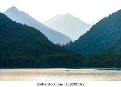 Fuessen Alpsee in summer landscape