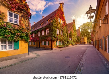 The Fuggerei is the world's oldest social housing complex still in use. It is a walled enclave within the city of Augsburg, Bavaria, Germany