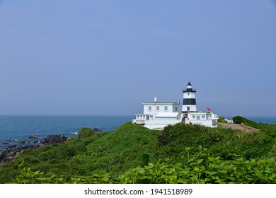 Fuguijiao Lighthouse, 1800s lighthouse at the northernmost point of Taiwan coastline.