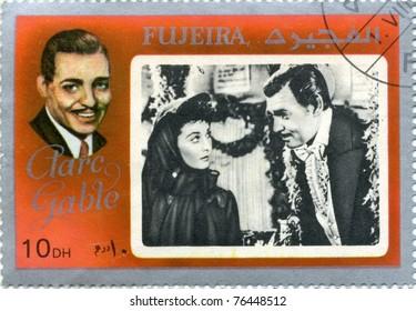 FUJEIRA - CIRCA 1972 : stamp printed in Fujeira showing, actor Clark Gable,  circa 1972