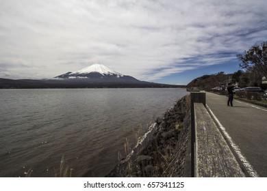 Fuji and lake Japan