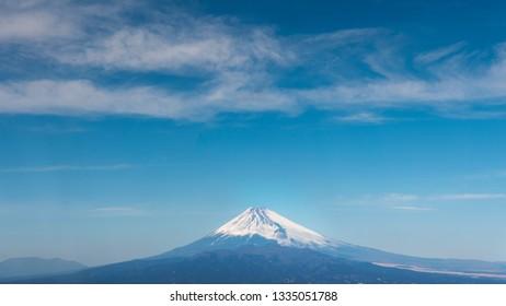 Fuji mount with blue sky, Japan