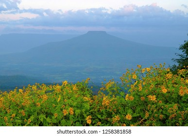 Fuji Mount in loei city or Phu Pa Por.A top attractions in the province  of loei.
