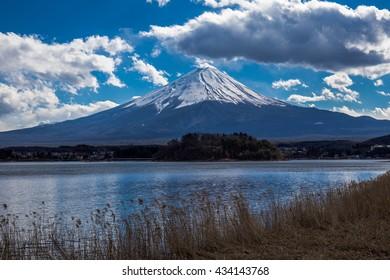 Fuji Mountain in Japan.