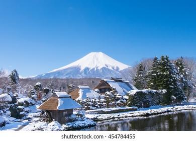 Fuji mountain from Oshino village,Japan.