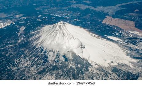 The Fuji Mountain sky view