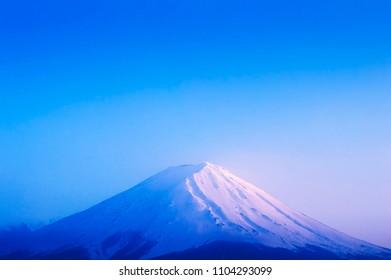 Fuji mountain twilight time : Kawaguchiko lake Yamanashi Japan.