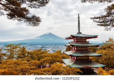 Fuji mountain view from Chureito Pagoda