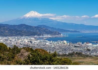 Fuji mountain view of Nihondaira Yume Terrace in Shizuoka, Japan