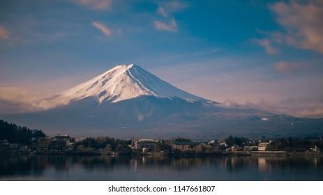Fuji Mt. by the lake