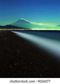 Fuji night view and stars-2