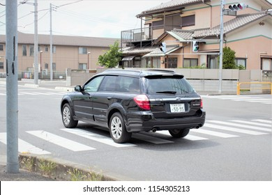 FUJIMINO, SAITAMA, JAPAN -August 11: Private SUBARU OUTBACK car  of Japanese driving on road No.272, 2 Km from Fujimino Train Station on August 11,2018 in FUJIMINO,SAITAMA,JAPAN.