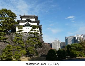 Fujimi-yagura (Mt Fuji-view Keep) at the Imperial Palace in Tokyo Japan
