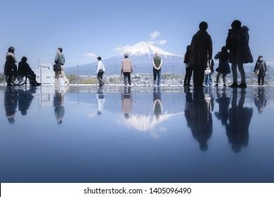 Fujinomiya, Japan - April 03, 2019 Fuji World Heritage Center in Shizuoka Prefecture,Japan.