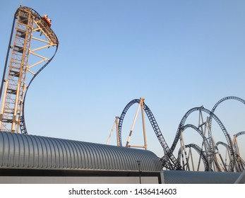 Fujiyoshida / Japan - November 5, 2013: Takabisha - World's Steepest Roller Coaster