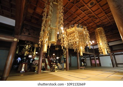 FUKUI JAPAN - MAY 03, 2018: Eiheiji temple Fukui Japan. Eiheiji is one of two main temples of the soto school of Zen Buddhism, the largest single religious denomination in Japan.