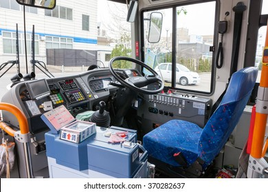 FUKUI,JAPAN - APRIL 6: The bus driver seat on April 6, 2013 in Fukui, Japan.