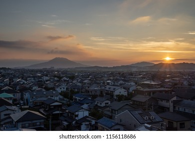 fukuoka city in Japan afternoon landscape view