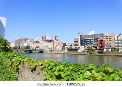 FUKUOKA, JAPAN. 2018 Sep 3rd. Viewing Nakasu District, At Fukuoka, Japan