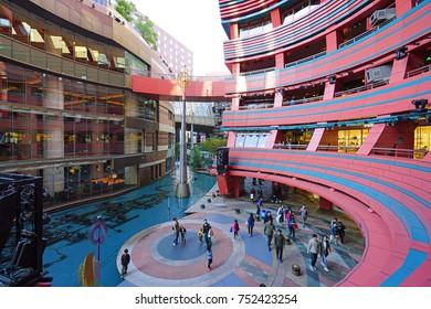 FUKUOKA, JAPAN -5 NOV 2017- The Canal City Hakata is large shopping and entertainment complex in Fukuoka, Japan.