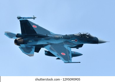 Fukuoka, Japan - March 22, 2017:  Japan Air Self Defense Force F-2A multirole fighter.