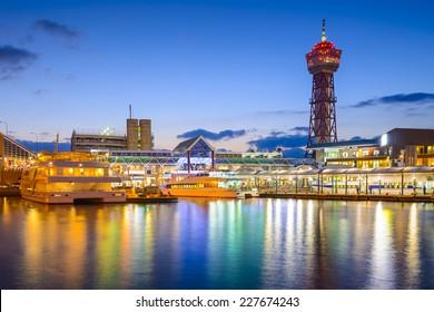 Fukuoka, Japan waterfront Cityscape.