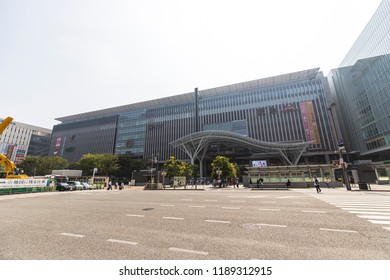 Fukuoka,Japan - July 18,2018 -  Located in Fukuoka City, Hakata Station is a major railway station in southern Japan and the largest on Kyushu Island.