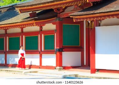 Fukuoka,Japan - July 20,2018 -  Dazaifu Tenmangu Shrine was built in honor of Sugawara Michizane.Many people pray to pass the school entrance exam.