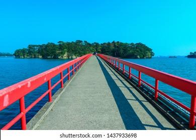 Fukuura Bridge in Matsushima Town, Miyagi Prefecture, Japan