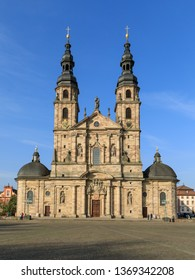 Fulda Cathedral (Dom St. Salvator zu Fulda) in Hessen, Germany. The cathedral is the most important Baroque church in Hessen.