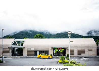 Fuli, Hualien, Taiwan - October 9, 2017 : Fuli Station in Hualien, Taiwan.The new station was rebuilt in January 2016, and won the architectural design award in 2017.