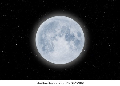 """Full Blue Moon """"Elements of this image furnished by NASA """""""