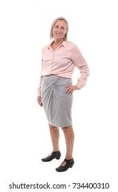 Full body mature woman