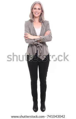 full body mature woman の写真素材 今すぐ編集 741043042