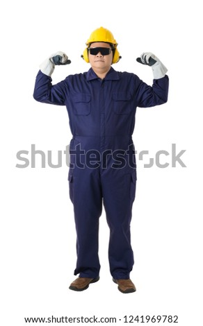dbdaf513c44 Full Body Portrait Worker Mechanic Jumpsuit Stock Photo (Edit Now ...