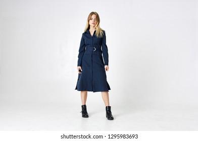 full body woman in dress fashion style