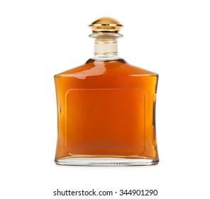 Full bottle isolated on white background