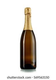 Full champagne bottle