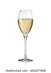 Full champagne glass