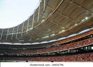 Full Crowd in a big Stadium