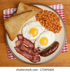 Full English cooked breakfast.