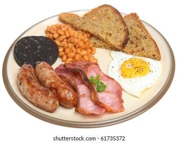 Full English fried breakfast