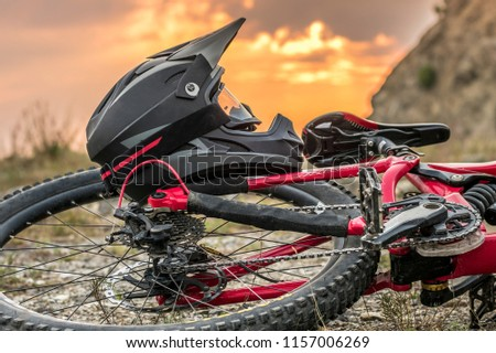 Full Face Downhill Mountain Bike Helmet Stock Photo Edit Now