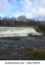 Full Flowing Dodder waterfall Tallaght Dublin