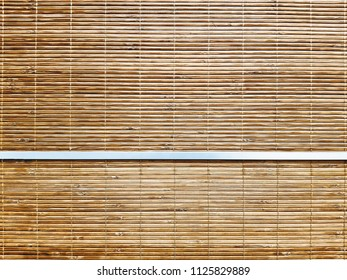 Full Frame Background of Bamboo Curtain Texture