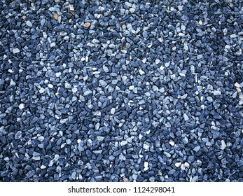 Full Frame Background of Blue Decorative Gravel Stones